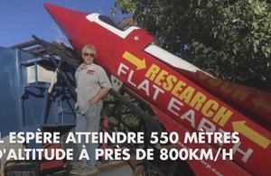 Un Américain construit sa propre fusée pour prouver que la Terre est plate