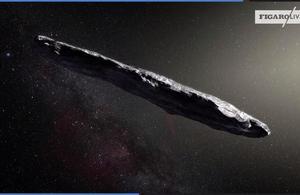 Animation d'Oumuamua, le premier objet interstellaire découvert dans le système solaire