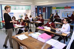 Il n'y a pas plus de 18 enfants par classe: l'équipe dirigeante tient à maintenir des effectifs réduits, afin de favoriser la sérénité du travail.