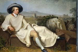 Goethe dans la campagne romaine de Wiilhelm Tischbein.