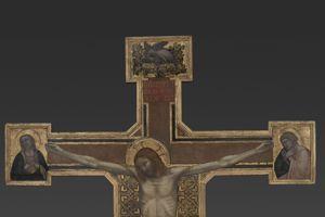 Giotto, Croix peinte, huile sur bois.