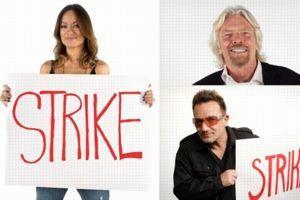 Olivia Wilde, Richard Branson et Bono.
