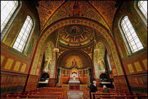 Chapelle de l'abbaye bénédictine de Beuron, haut lieu du christianisme.