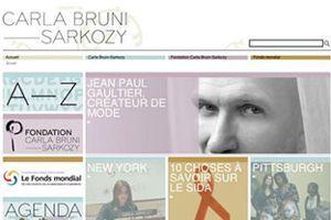 Le site Carlabrunisarkozy.org avant 2012