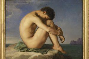 Jeune assis au bord de la mer, Hippolyte Flandrin