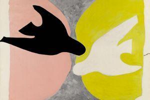L'oiseau noir et l'oiseau blanc (détail), Georges Braque, 1960