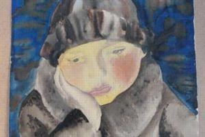 Femme à table, aquarelle de Wilhelm Lachnit.©Melder.