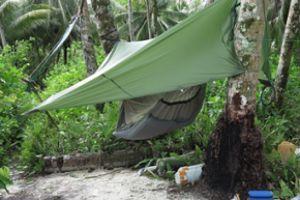 Photo du campement postée sur le blog de l'expédition Web Robinson.