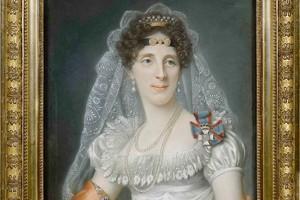 Portrait de Marie-Élisabeth Von Wittelsbach, épouse du maréchal, par Joseph Boze.