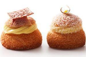 Le Chou-chou vanille-chocolat et le Chou-chou passion-noix de coco, à partir du 2 avril chez Gâteaux Thoumieux (DR)