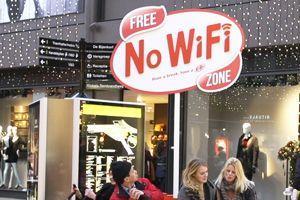 Campagne de KitKat sur les zones sans Wi-Fi aux Pays-Bas. Crédits photo: JWT Amsterdam