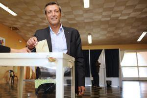 Édouard Martin a voté à Thionville.