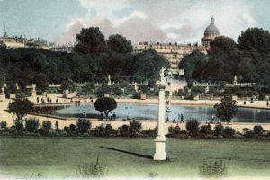 Le jardin du Luxembourg vers 1900.