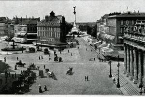 Place de la Comédie à Bordeaux, 1914.