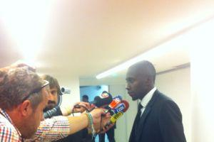 Blaise Matuidi devant les journalistes