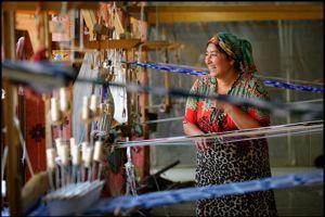 La fabrique de soie Yodgorlik Margilan Silk Factory.