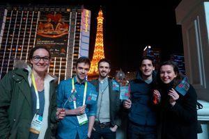 L'équipe Lima et l'équipe de la mission French Tech à Las Vegas.