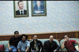 Dieudonné, Thierry Meyssan, Alain Soral et Frédéric Chatillon, en Syrie.