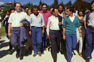 Alain Bauer, Stéphane Fouks, Michel Rocard et Manuel Valls (de gauche à droite).