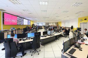 La salle de commande du centre. Crédit photo: CEA/DR.