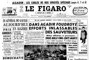 La une du Figaro du 3 mars 1960.