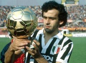 Michel Platini, avec la Juventus en 1985.