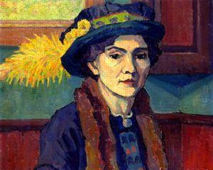 <i>Le Chapeau à Plumes</i> (Robert Bevan, 1915)