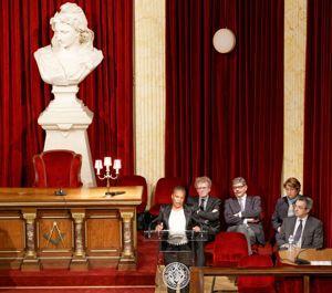 La garde des Sceaux a été reçue le 17 décembre par le Grand Orient de France.