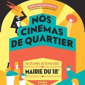 Affiche de l'exposition Nos cinémas de quartier.