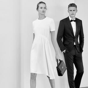 Hugo boss d voile une collection mariage madame figaro for Robe de mariage hugo boss