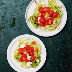 Spaghettis de courgettes à l'italienne