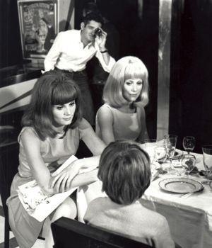 Catherine Deneuve, Françoise Dorléac et Jacques Demy en 1966.