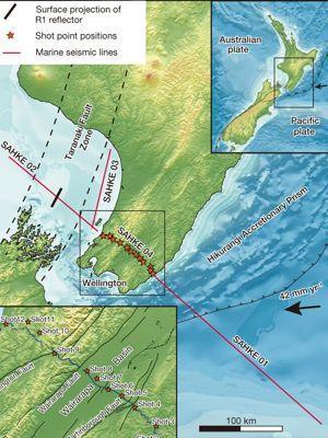 Site des enregistrements sismiques en Nouvelle-Zélande.