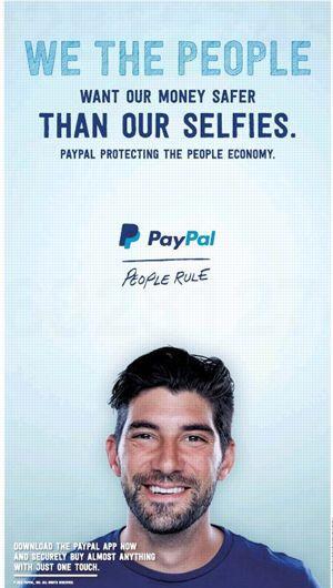 La publicité PayPal.
