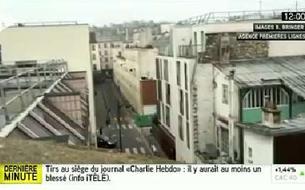 Charlie Hebdo : iTélé diffuse une vidéo amateur
