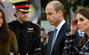 Kate Middleton et William vs Meghan Markle et Harry : le match des couples princiers