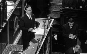 En 1959, le discours de politique générale de Michel Debré