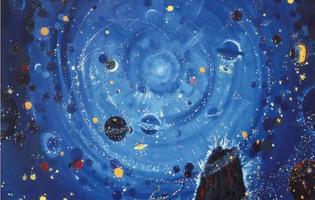 Wenzel Hablik, <i>Starry Night</i> (détail), 1909, Itzehoe.