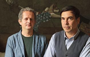 Ivan Pericoli et Benoît Astier de Villatte auteurs de <i>Ma vie à Paris.</i>