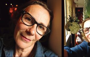 Selfie de Marie Desplechin au bar du Park Hyatt Vendôme (Paris IIe). - Crédits photo: Matila Malliarakis pour le Figaroscope
