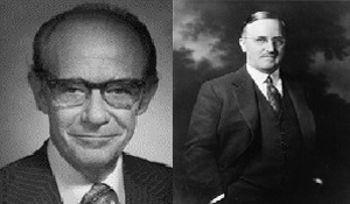 A gauche, D. Mark Hegsted (1914-2009) et à droite Roger Adams (1889-1971)