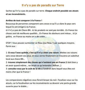 Extrait du «guide pour la hijra» du site la-hijra.com