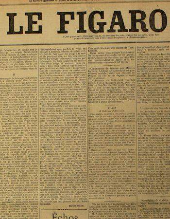 Marcel Proust «écrivain-voyageur» dans Le Figaro le 19 novembre 1907.
