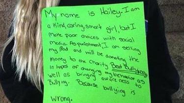Une mère expose sa fille sur Internet pour la punir