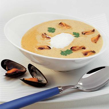 Soupe de moules au curry
