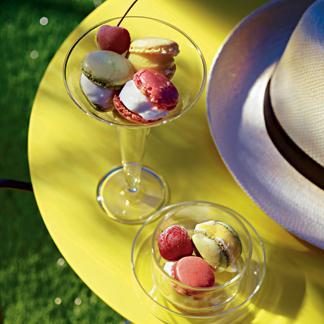 Mini-macarons glacés