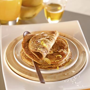 Pancakes banane-coco à la farine de petit épeautre