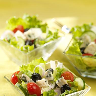 Salade grecque au roquefort