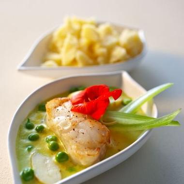 Sbrinz AOC, lotte dorée et curry jaune