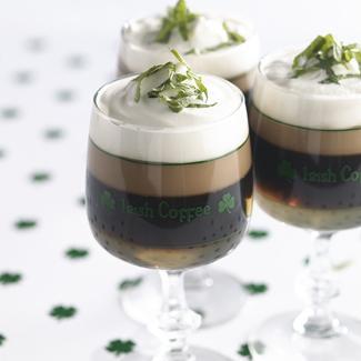 Irish coffee à la menthe